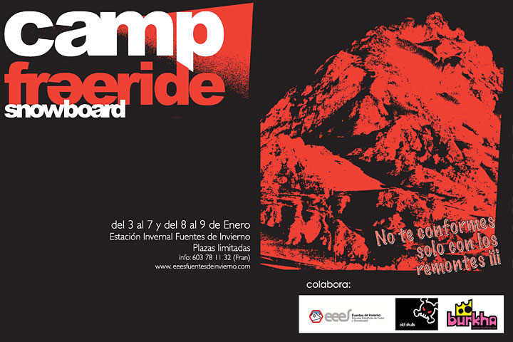 Cartel del Freeride Snowboard Camps 2011.